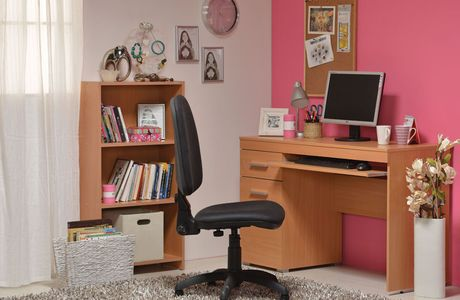 Functional work space for children's room
