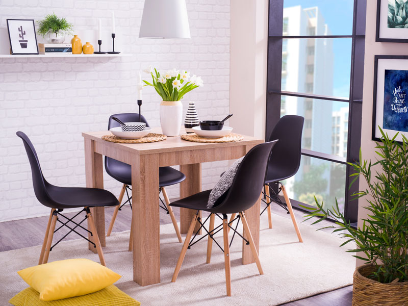 Dining table dt 80x80 forma ideale for Table 80x80